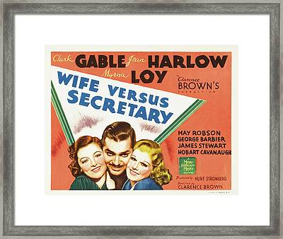 Wife Versus Secretary 1936 Framed Print