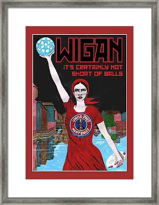 Wigan Poster Framed Print by Eric Jackson