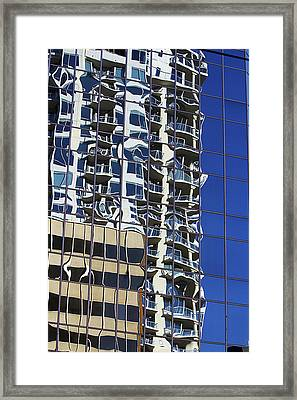 Framed Print featuring the photograph Wiggly Balconies by Phyllis Denton