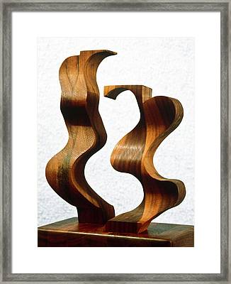 Wiggly Women Framed Print by Lonnie Tapia