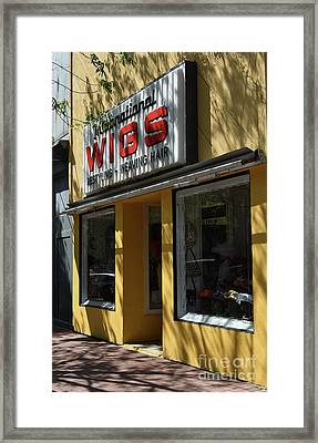 Framed Print featuring the photograph Wigs by Skip Willits