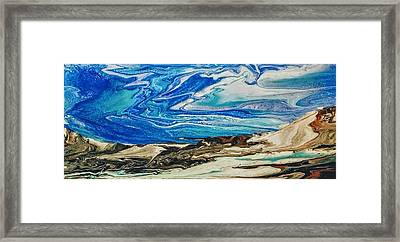 Wiinter At The Beach Framed Print