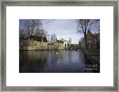 Wijngaardplein Bruges Framed Print by Nichola Denny