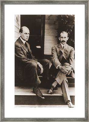 Wilbur Wright And Orville Wright Framed Print