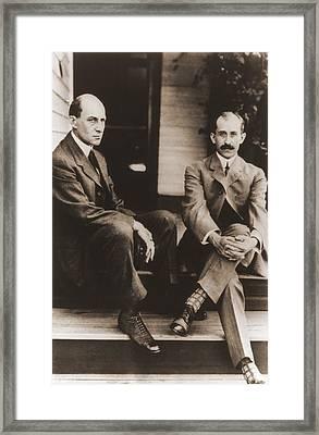 Wilbur Wright And Orville Wright Framed Print by Everett