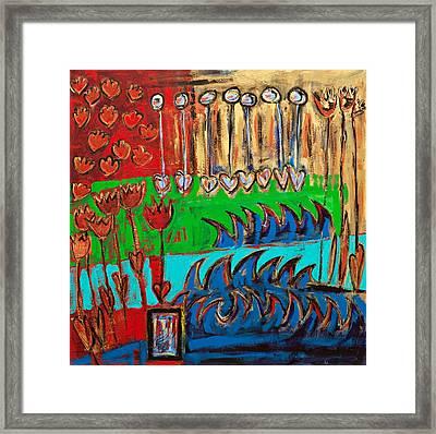 Wild Abstract Garden Framed Print by Maggis Art
