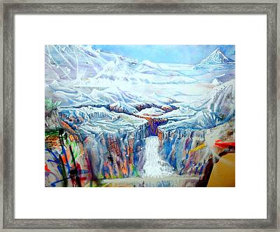 Framed Print featuring the painting Wild America by Steven Holder