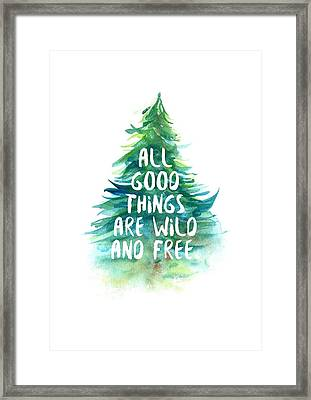 Wild And Free Framed Print by Randoms Print