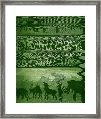 Wild  And Ziggy Animals In A Row  Framed Print by Anne-Elizabeth Whiteway
