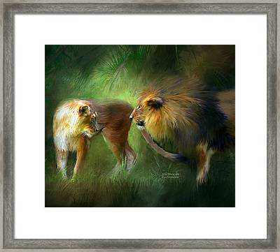 Wild Attraction Framed Print by Carol Cavalaris