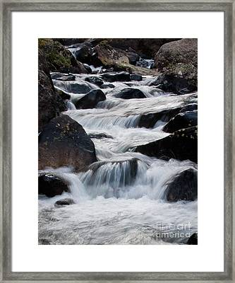 Wild Basin White Water Framed Print by Brent Parks