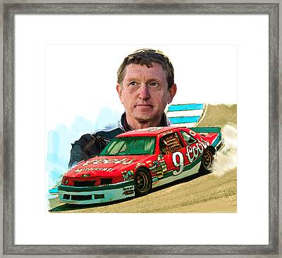 Framed Print featuring the painting Wild Bill  Bill Elliott  by Iconic Images Art Gallery David Pucciarelli