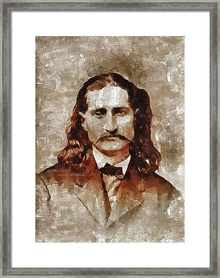 Wild Bill Hickok Framed Print by Mary Bassett