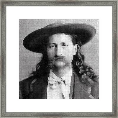Wild Bill Hickok Mosaic Framed Print