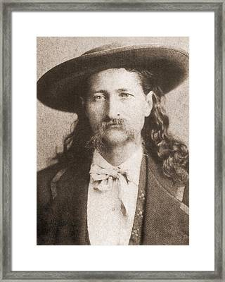 Wild Bill Hickok Was A Celebrated Framed Print by Everett