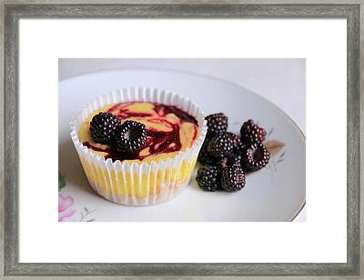 Wild Black Raspberry Dessert Framed Print by Lori Deiter