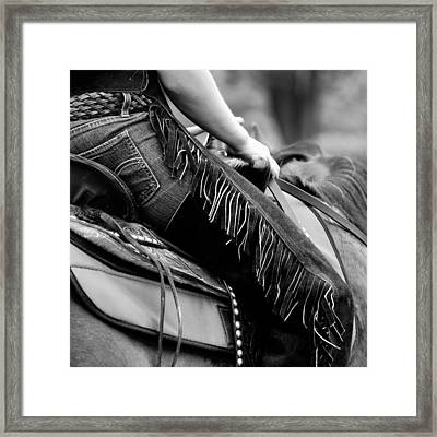 Wild Blue Chaps  Framed Print by JAMART Photography