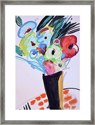 Wild Blue Flowers Framed Print
