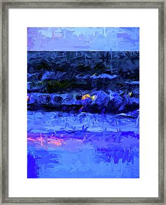 Wild Blue Sea Under The Lavender Sky Framed Print by Jackie VanO