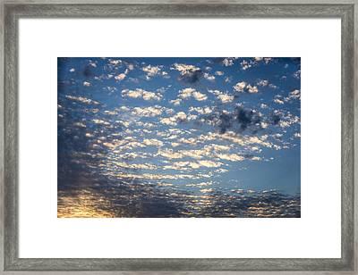 Wild Blue Sunset Framed Print