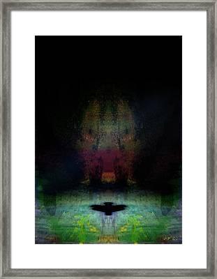 Wild Boar And Bird Framed Print