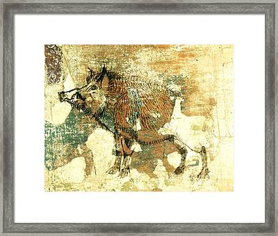 Wild Boar Cave Painting 1 Framed Print