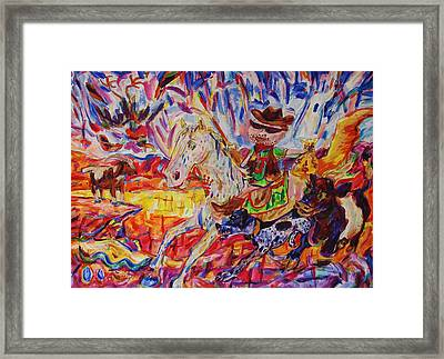 Wild Boy Jimmy And Co Framed Print