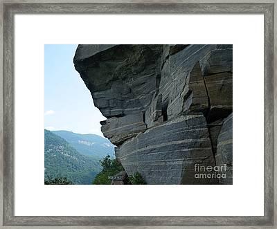 Wild Cat Trap At Chimney Rock Nc Framed Print