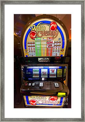 Wild Cherry Slot Machine At Lumiere Place Casino Framed Print by David Oppenheimer