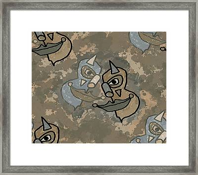 Wild Clown Framed Print