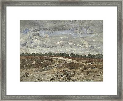 Wild Country In The Forest Of Fontainebleau Framed Print by Carl Fredrik Hill
