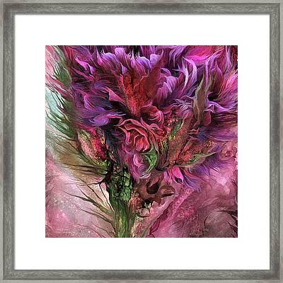 Wild Flower 3 - Organica Framed Print by Carol Cavalaris