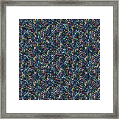 Wild Flower Field Framed Print by Sholto Drumlanrig