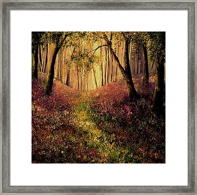 Wild Flower Forest Framed Print by Ann Marie Bone