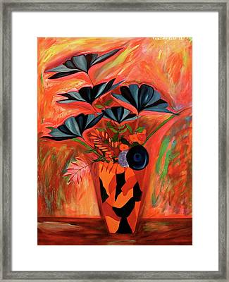 Framed Print featuring the painting Wild Flowers  A Still Life  by Iconic Images Art Gallery David Pucciarelli