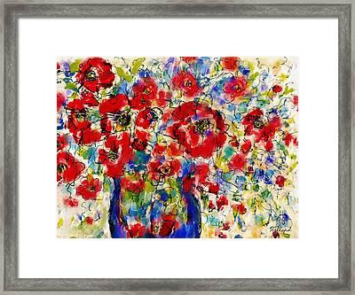 Wild Flowers Bouquet Framed Print