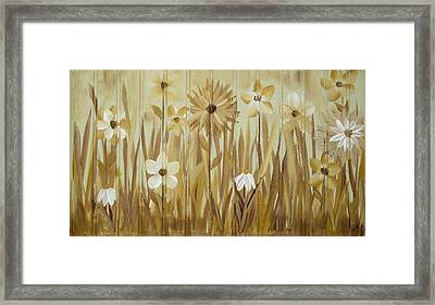 Framed Print featuring the painting Wild Flowers by Kathy Sheeran