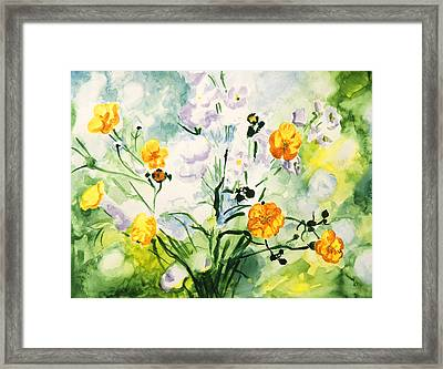 Wild Flowers Framed Print by Masha Batkova
