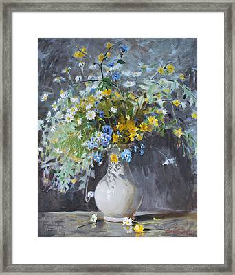 Wild Flowers Framed Print by Ylli Haruni