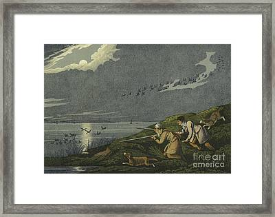 Wild Fowl Shooting Framed Print by Henry Thomas Alken