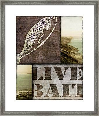 Wild Game Live Bait Fishing Framed Print by Mindy Sommers