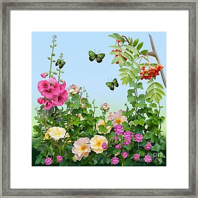 Framed Print featuring the painting Wild Garden by Ivana Westin