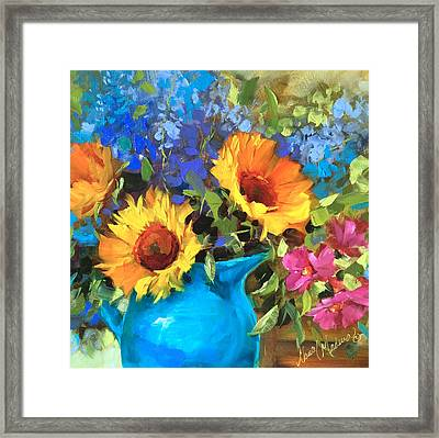 Wild Garden Sunflowers Framed Print