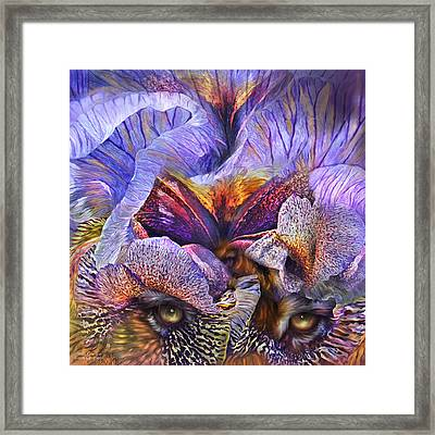 Wild Goddess - Tigress Framed Print by Carol Cavalaris