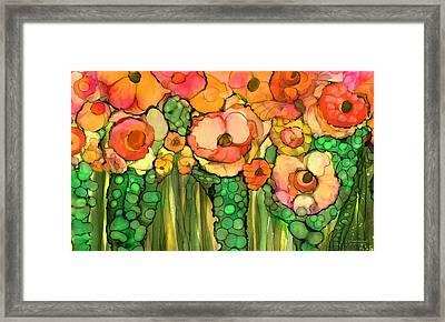 Wild Golden Poppies Framed Print by Carol Cavalaris