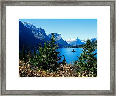 Wild Goose Island In The Fall Framed Print