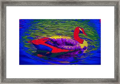 Wild Goose Framed Print by Russ Mullen