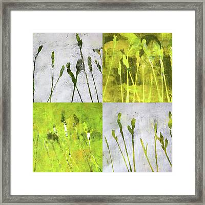 Wild Grass Collage 1 Framed Print