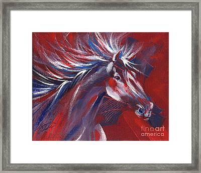 Wild Horse Bust Framed Print by Summer Celeste