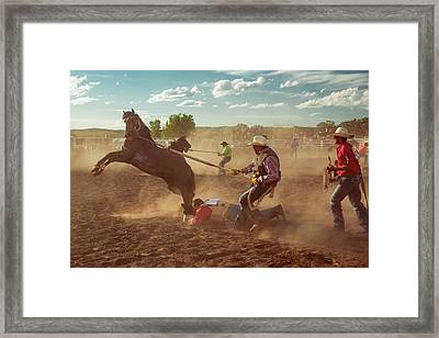 Wild Horse Race Framed Print by Todd Klassy
